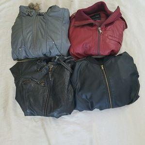 Pleather or faux leather jacket bundle 😍😍